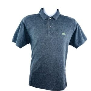 Lacoste Mens Dark Gray Heather Polo Shirt Large
